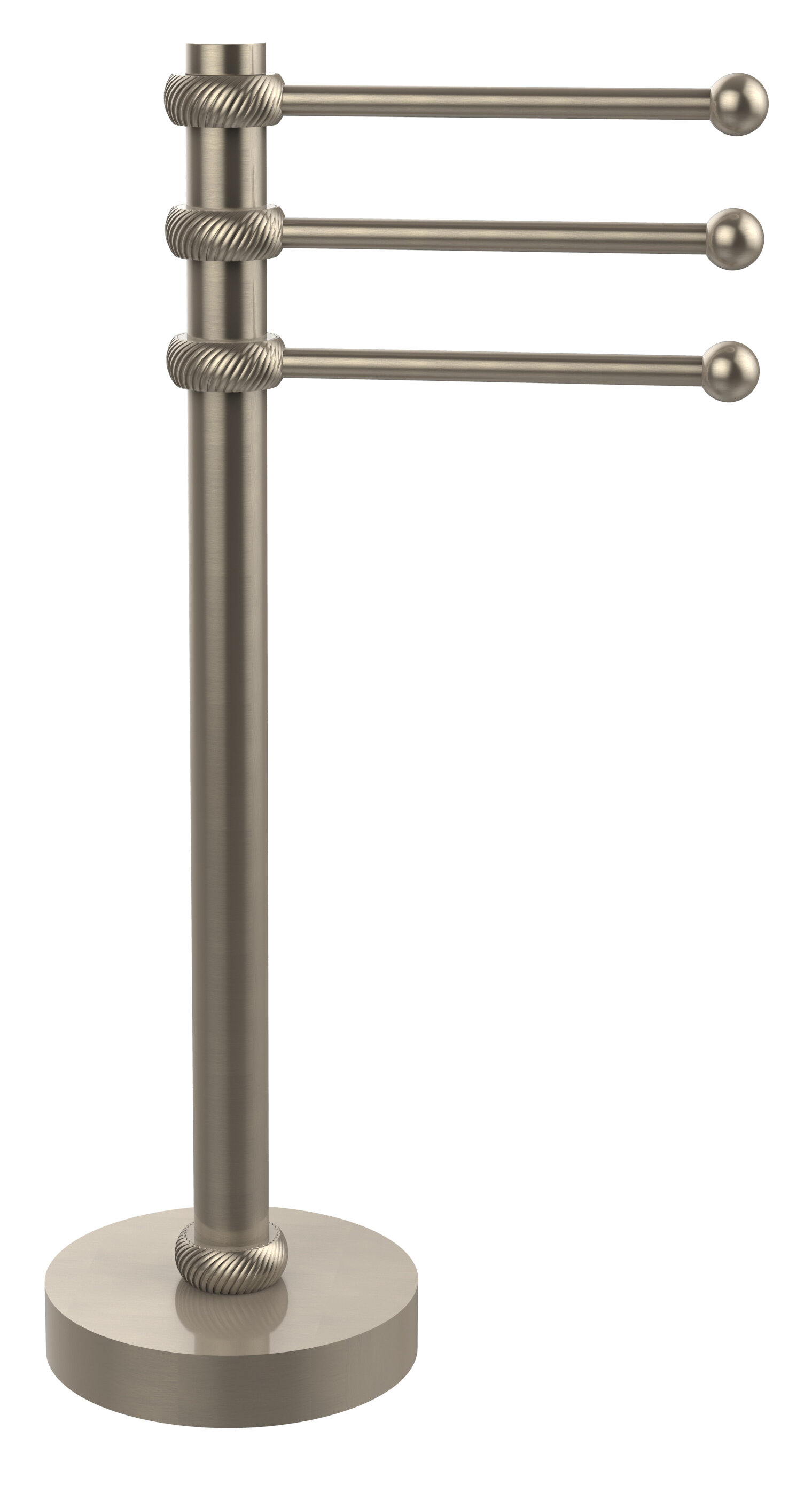 973t Pew 3 Swing Arm Countertop Towel Stand