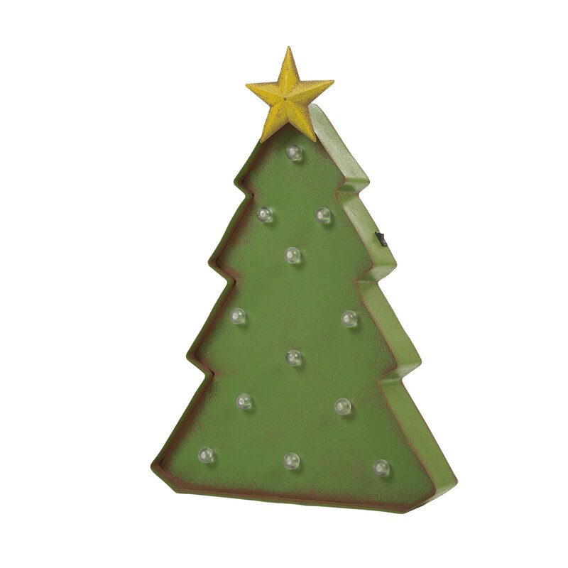 a95b82438b4 The Holiday Aisle Holiday Marquee Tabletop Tree   Reviews