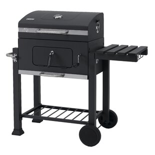 42cm Toronto Portable Charcoal Barbecue with Side Table and Grid in Grid System by Tepro