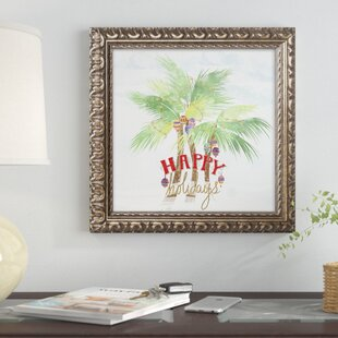 xmas palm trees framed graphic art print - Christmas Palm Tree Pictures
