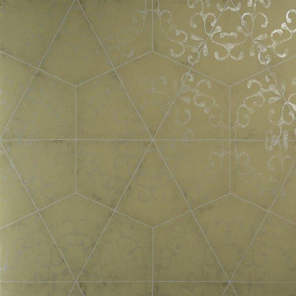 "Empty Bedroom Background Latest Bedroom Cabinet Design Bedroom Overhead Lighting Ideas Modern Bedroom Sets For Sale: Luxury Elegant Octagonal Metallic 27.5"" X 27.5"" Geometric"