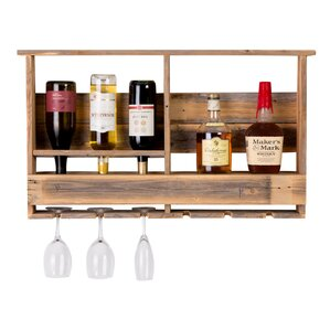 West Covina Wall Mounted Wine Bottle R..