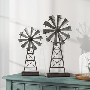Gobert Windmill 2 Piece Sculpture Set