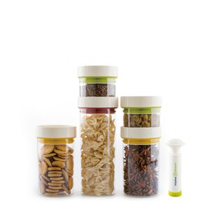 Vacuum Sealed Food 5 Piece Kitchen Canister Set