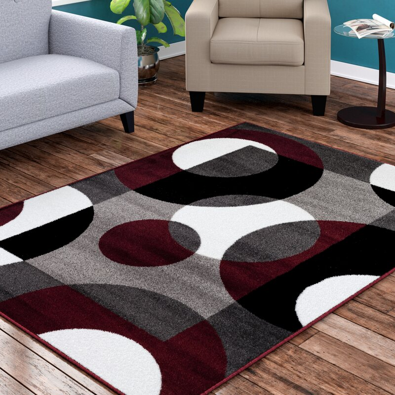 Ebern Designs Allison Burgundy Area Rug & Reviews