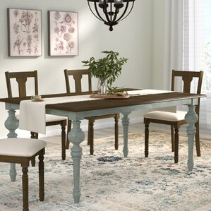 Serpentaire Rectangular Dining Table by Lark Manor