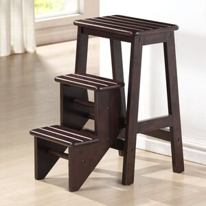 3-Step Wood Step Stool