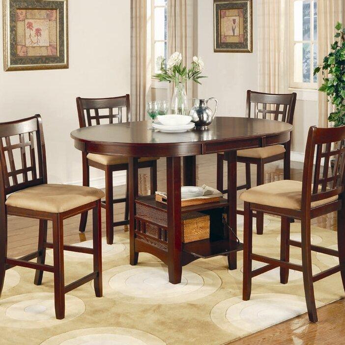 Alcott Hill Norwalk Counter Height Extendable Dining Table