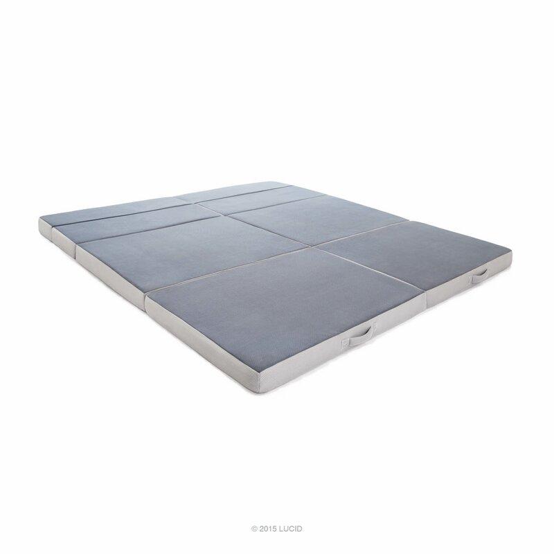 Lucid Folding 4 Firm Foam Mattress Amp Reviews Wayfair