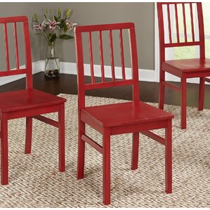 carolina solid wood dining chair set of 4 - Wayfair Dining Chairs