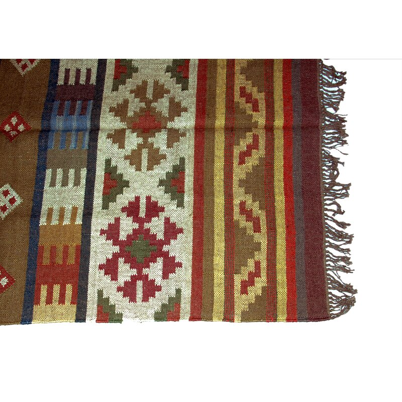 4bc0ab1b327b One-of-a-Kind Fillmore Handmade Kilim 4' x 6' Red/Green/Yellow Area Rug