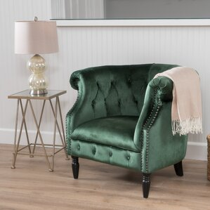 Chesterfield Green Accent Chairs Youll Love Wayfair