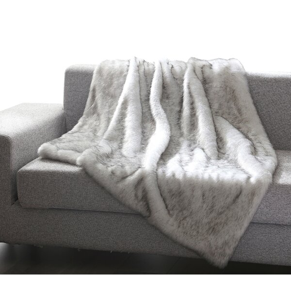 Superbe Blush Faux Fur Throw | Wayfair