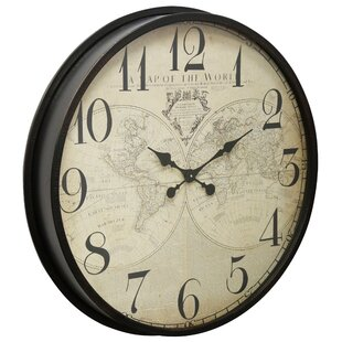 Buy World Map Clock. Brown 31 4  World Map Clock Wayfair