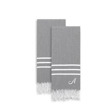 ac8b0f8952 Polizzi Personalized 2-Pestemal Turkish Hand Towel Set (Set of 2)