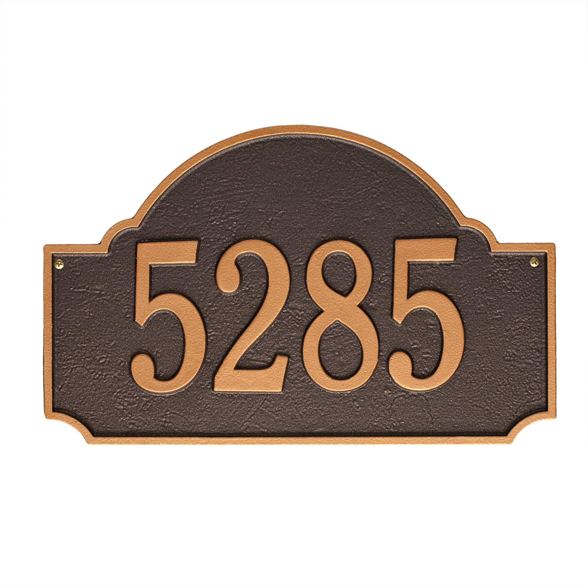 Custom House Number Sign. Display Your Address and Street Name Metal Address Plaque Personalized Cast Lawn Mounted Williamsburg Plaque
