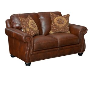 Mariela Leather Loveseat by Darby Home Co