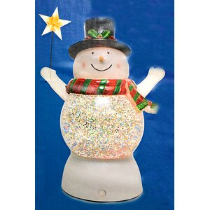 Battery Operated Led Lighted Color-Changing Snowman Christmas Decoration