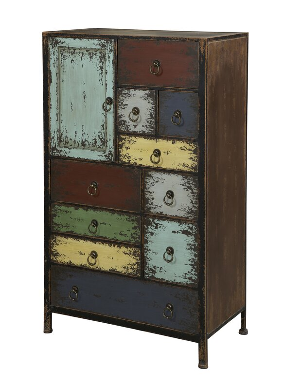 Parcel 11 Drawer Accent Chest. Industrial Cabinets   Chests You ll Love   Wayfair