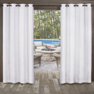 Malaya Solid Room Darkening Outdoor Grommet Curtain Panels Set Of 2