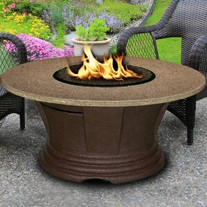 San Simeon Stainless Steel Propane Gas Fire Pit Table