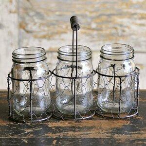 Ilyana Metal/Wire 4 Piece Decorative Basket and Jar Set