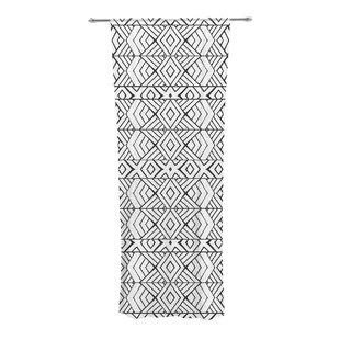 Tribal Expression Geometric Sheer Rod Pocket Curtain Panels Set Of 2