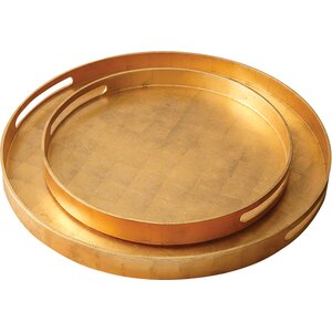 Round Wood Luxe Tray