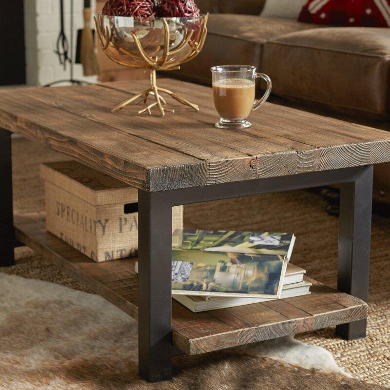 Mistana Veropeso 42 Wood Metal Coffee Table Reviews Wayfair