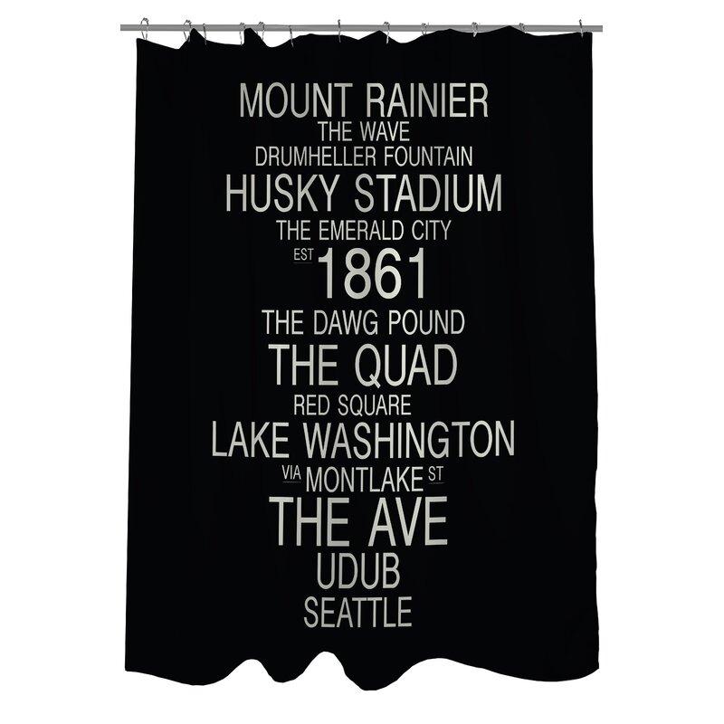 Seattle Washington Landmarks Shower Curtain