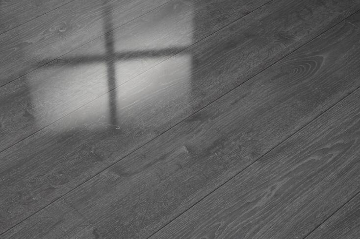 Elesgo Floor Usa 7 X 51 X 9mm Oak Laminate Flooring In Gray Wayfair