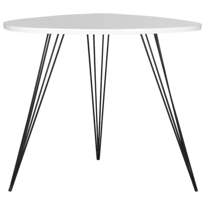Brayden Studio Burchard End Table Color: White