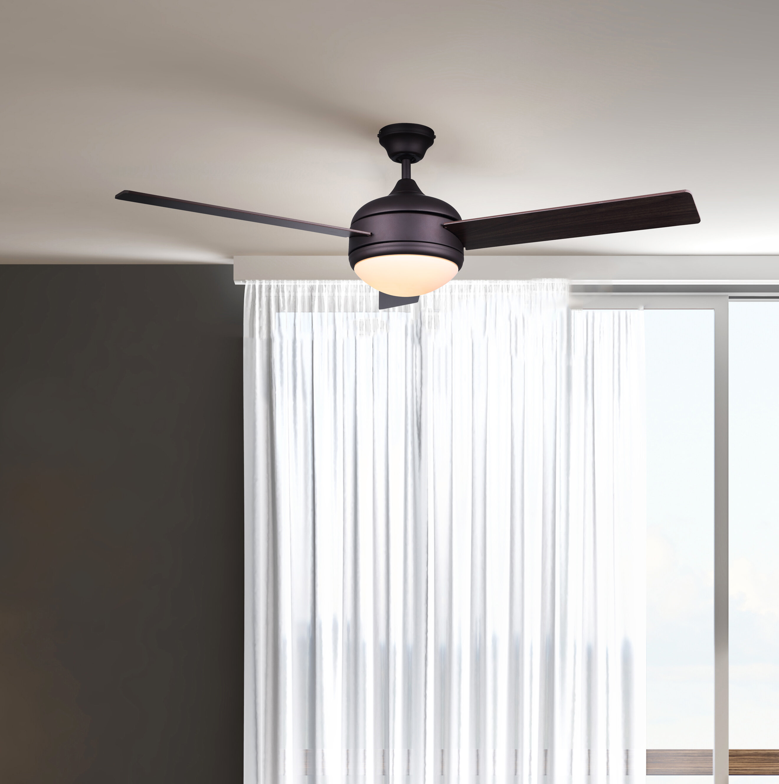 "Bedroom Kandi Natasha Hall Home: Ebern Designs 21"" Kandi 3-Blade Ceiling Fan With Remote"
