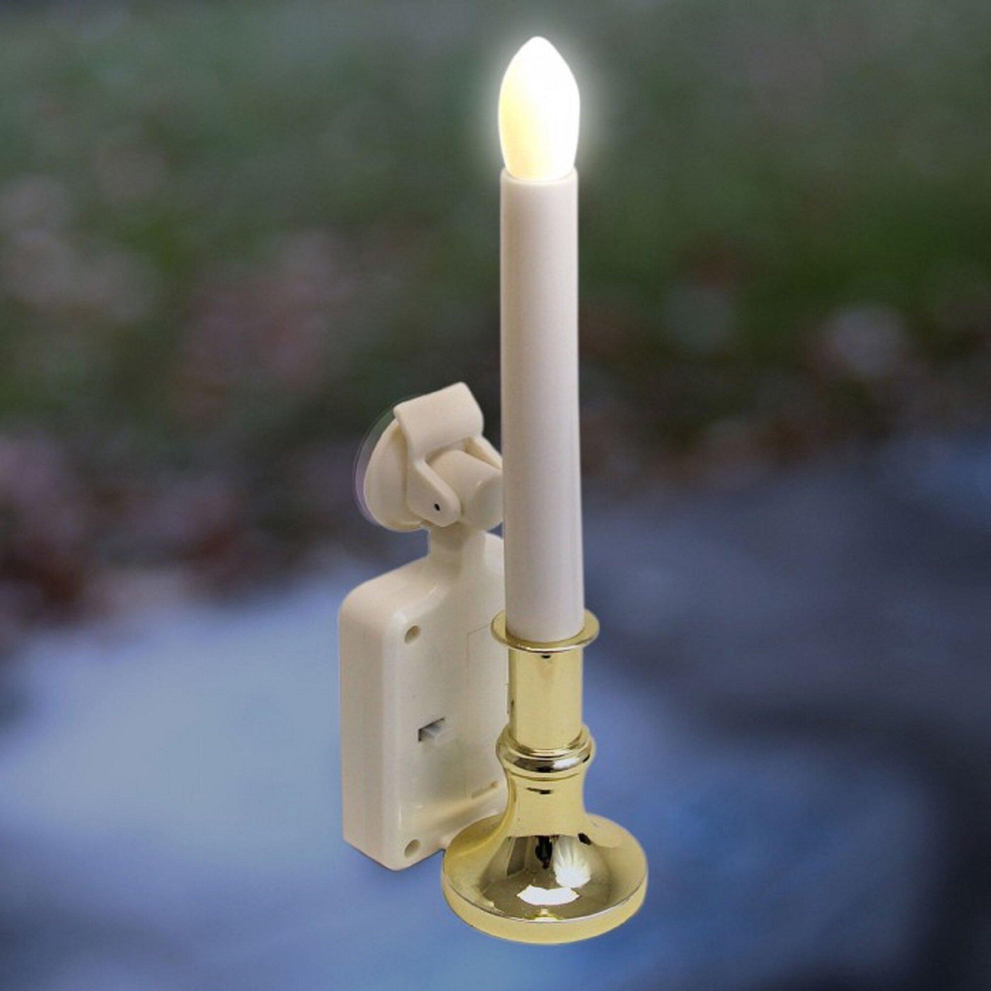 The Holiday Aisle Led Flame Window Candle Solar Lighted Décor Wayfair