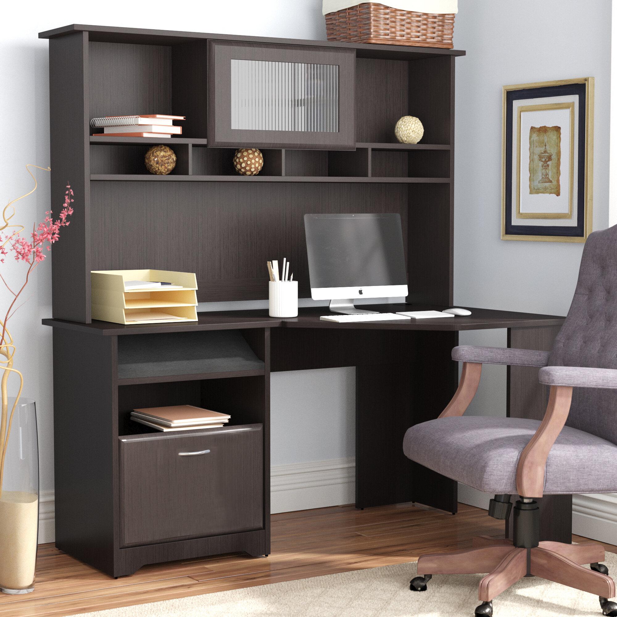 Red Barrel Studio Hilale Corner Computer Desk With Hutch Reviews Wayfair