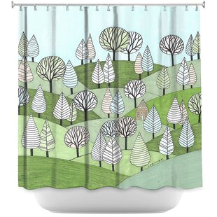 Little Cottage In The Woods Shower Curtain