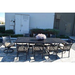 Superbe Outdoor Dining Set 11 Piece | Wayfair