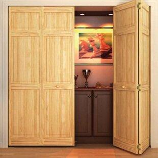 Paneled Wood Unfinished Bi Fold Door
