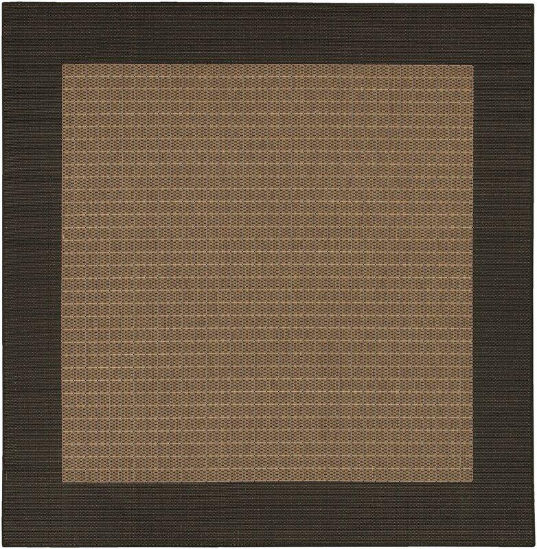 Checkered Outdoor Rug: Owen Checkered Field Cocoa/Black Indoor/Outdoor Area Rug