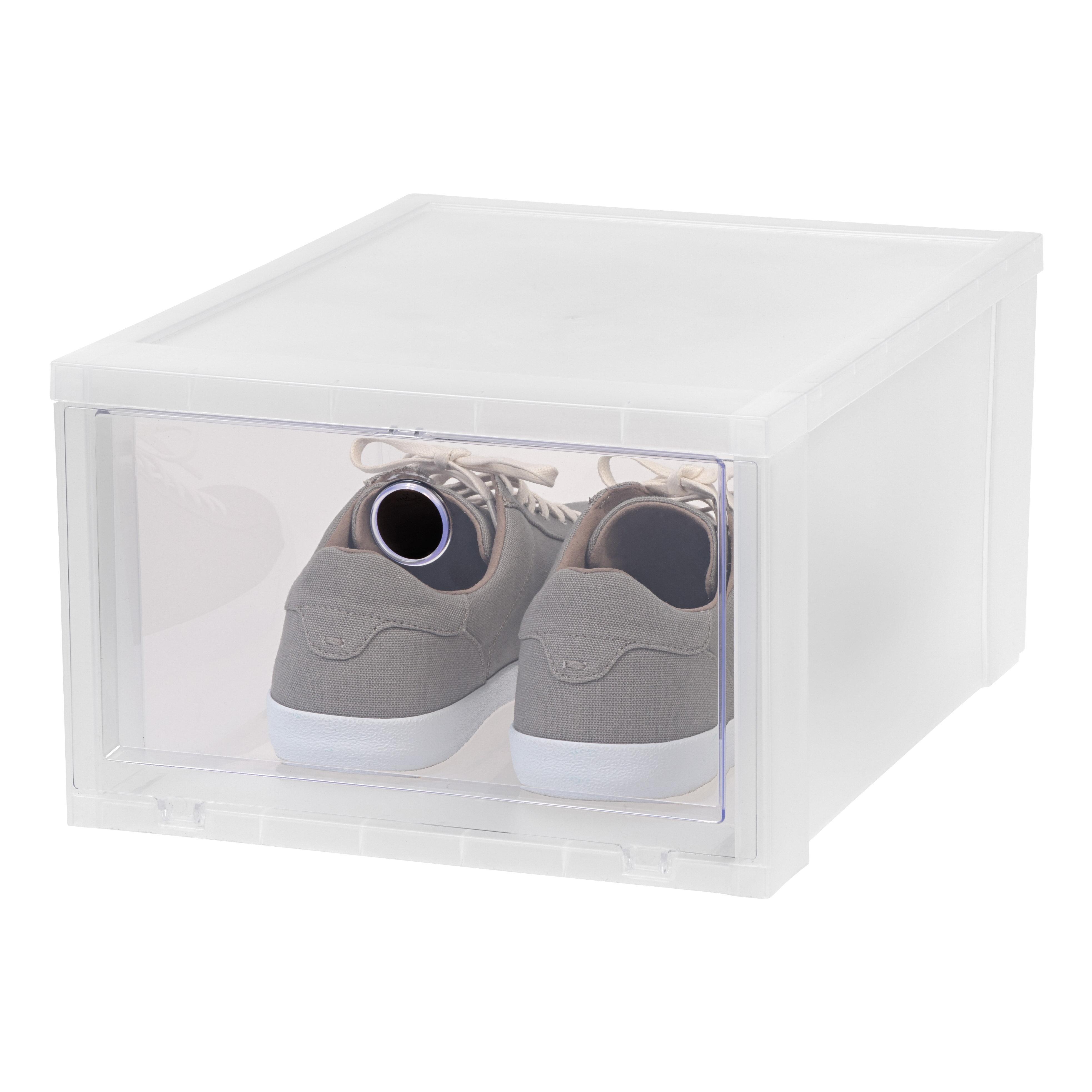 IRIS Wide Stackable Shoe Storage Box & Reviews | Wayfair