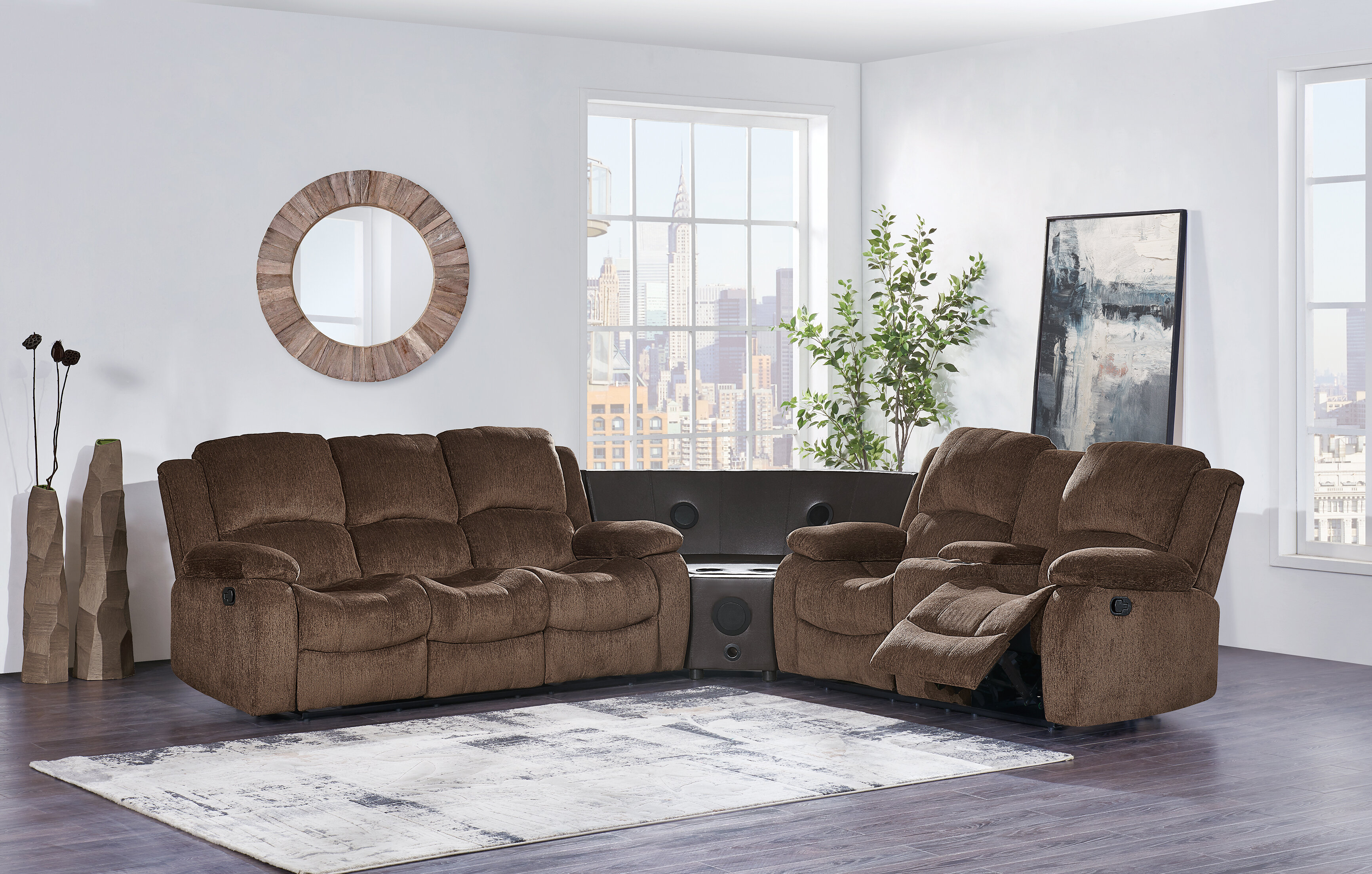 with new locator sofa ahfa storage consoles latitudes item b flexsteel reclining products curved sectional town dealer recliner