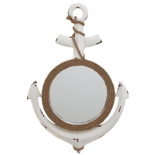 Nautical Wall Mirror urban designs nautical anchor art wall mirror & reviews | wayfair