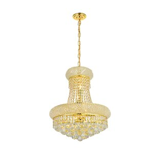 Draped gold crystal chandelier wayfair save aloadofball Image collections