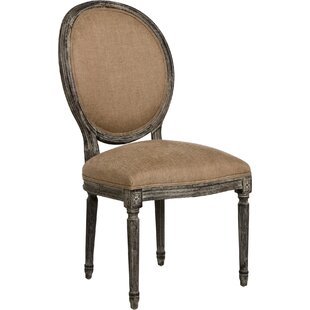 Medallion Side Chair in Linen - Copper