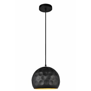 Modern contemporary matte black pendant lighting allmodern reinhold 1 light mini pendant in matte black aloadofball Image collections