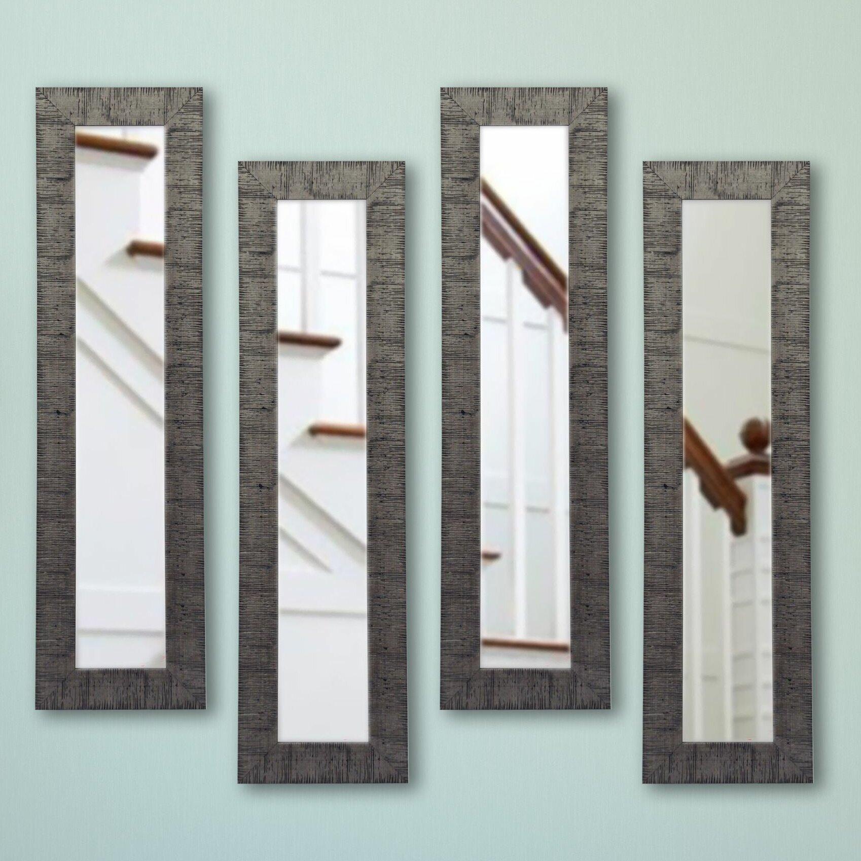 17 Stories 4 Piece Ellington Panel Mirror Set | Wayfair