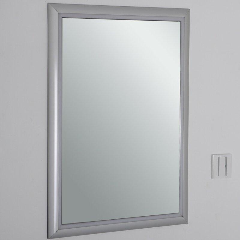 Lighted Bathroom Vanity Mirrors orren ellis modern wall mounted lighted bathroom vanity mirror