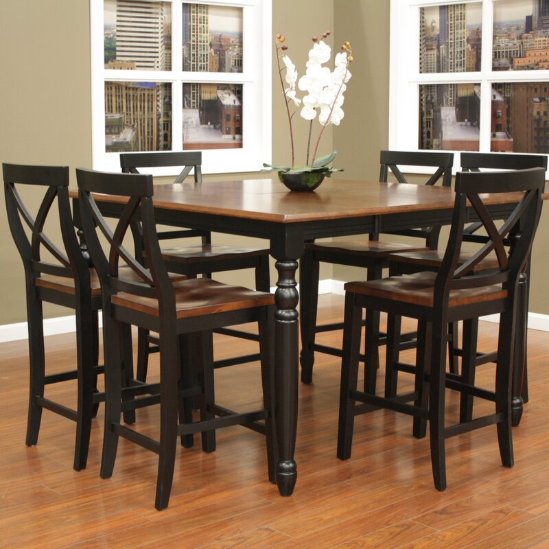 Beautiful Deer Lodge 7 Piece Counter Height Dining Set