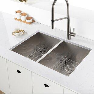 Stainless steel kitchen sinks youll love wayfair save to idea board workwithnaturefo