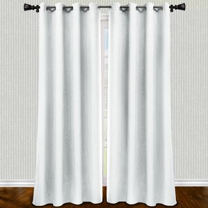 Lawson Woven Solid Blackout Curtain Panels (Set Of 2)